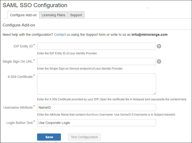 Step by Step Guide for Single Sign On into Atlassian Bamboo