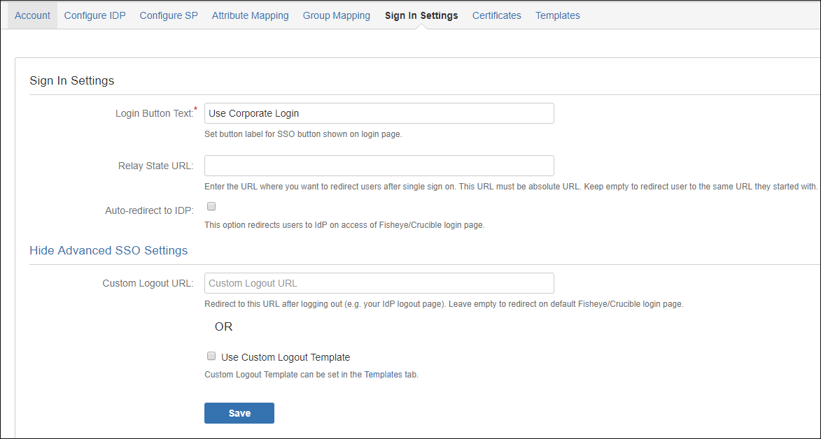 Step by Step Guide for Single Sign On into Atlassian Fisheye/Crucible