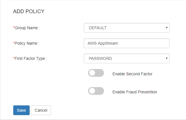 aws appstream sso add policy