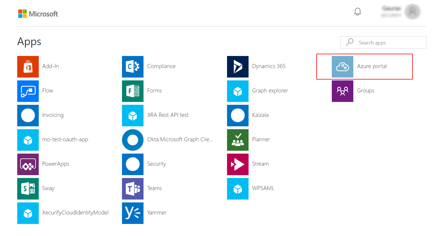 Azure AD DS All Apps