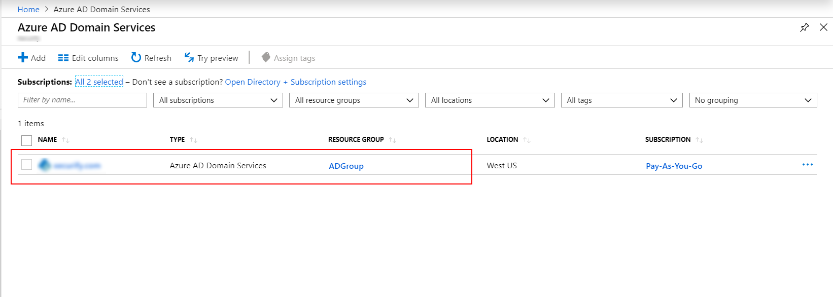 Azure AD Domain List