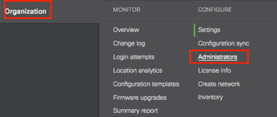 Cisco Meraki saml admin-configuree