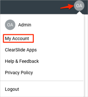 ClearSlide Two Factor Authentication(2FA) admin login