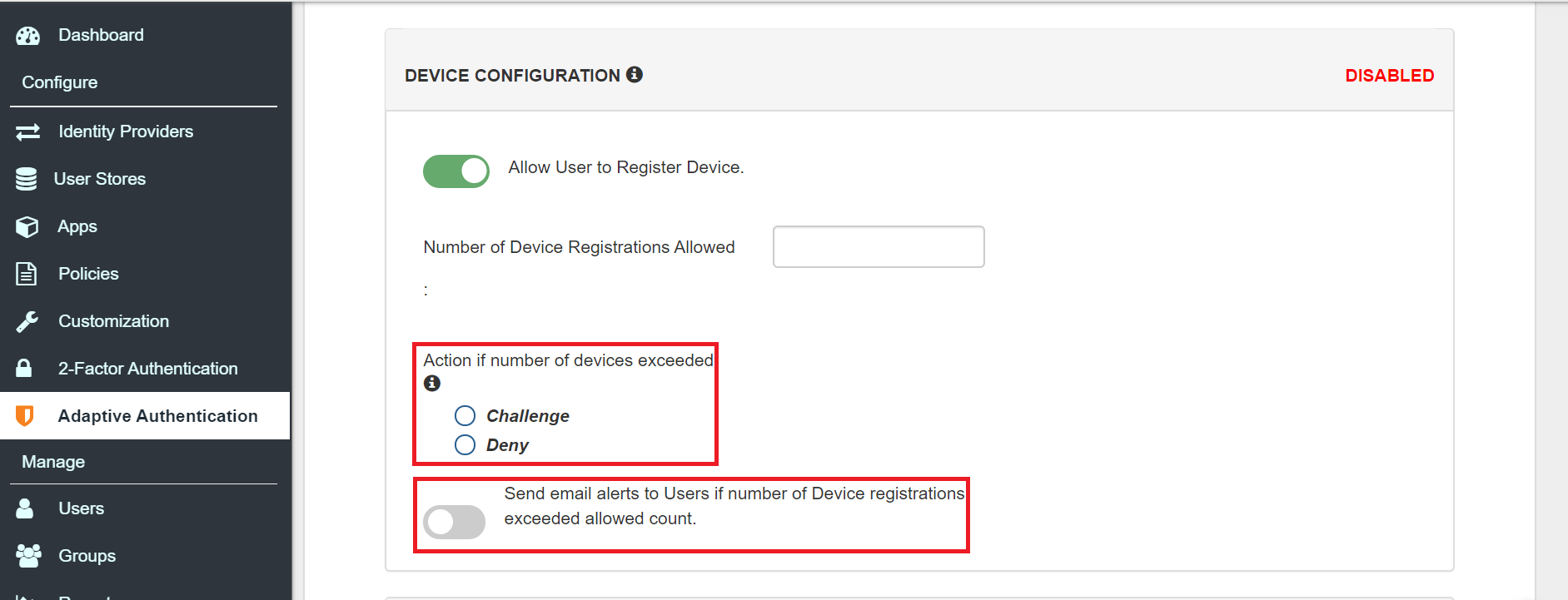Docebo Single Sign On (sso) adaptive authentication device restriction