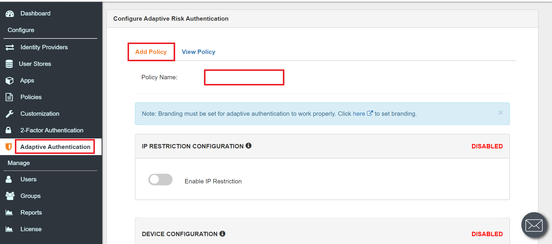 Envoy Single Sign On (sso) adaptive authnetication policy