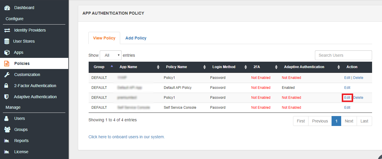 Envoy Single Sign On (sso) edit device restriction policy