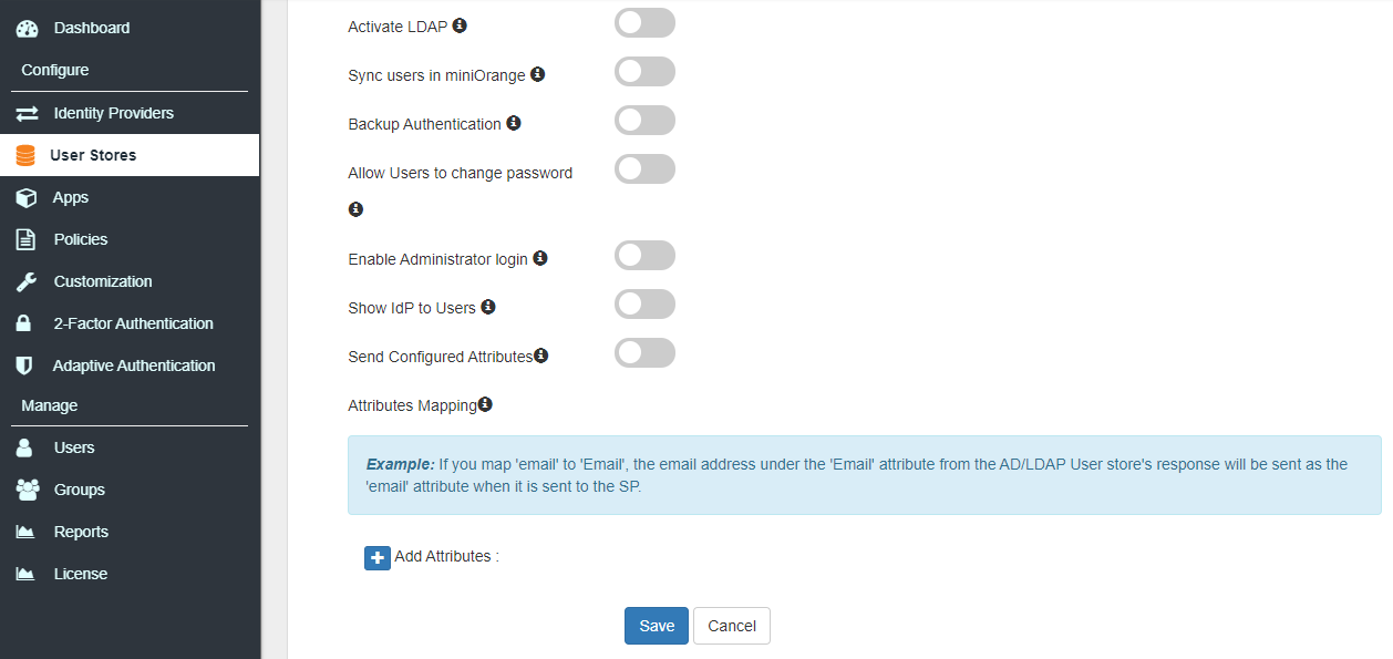 Single Sign On (sso) configure ldap options