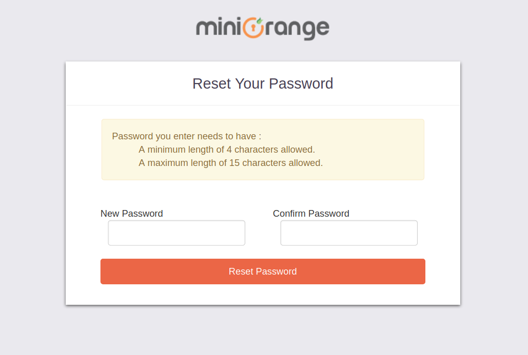 Single Sign On (sso) reset user password