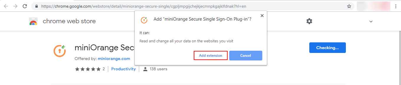 Marketo Single Sign On (sso) extension added in chrome