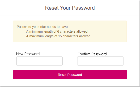 itrp sso reset password