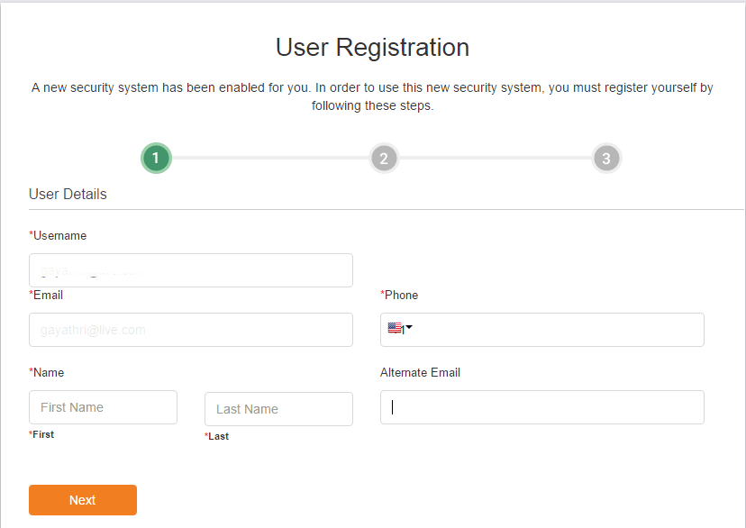 Cisco Webex two factor authentication (2FA) user registration