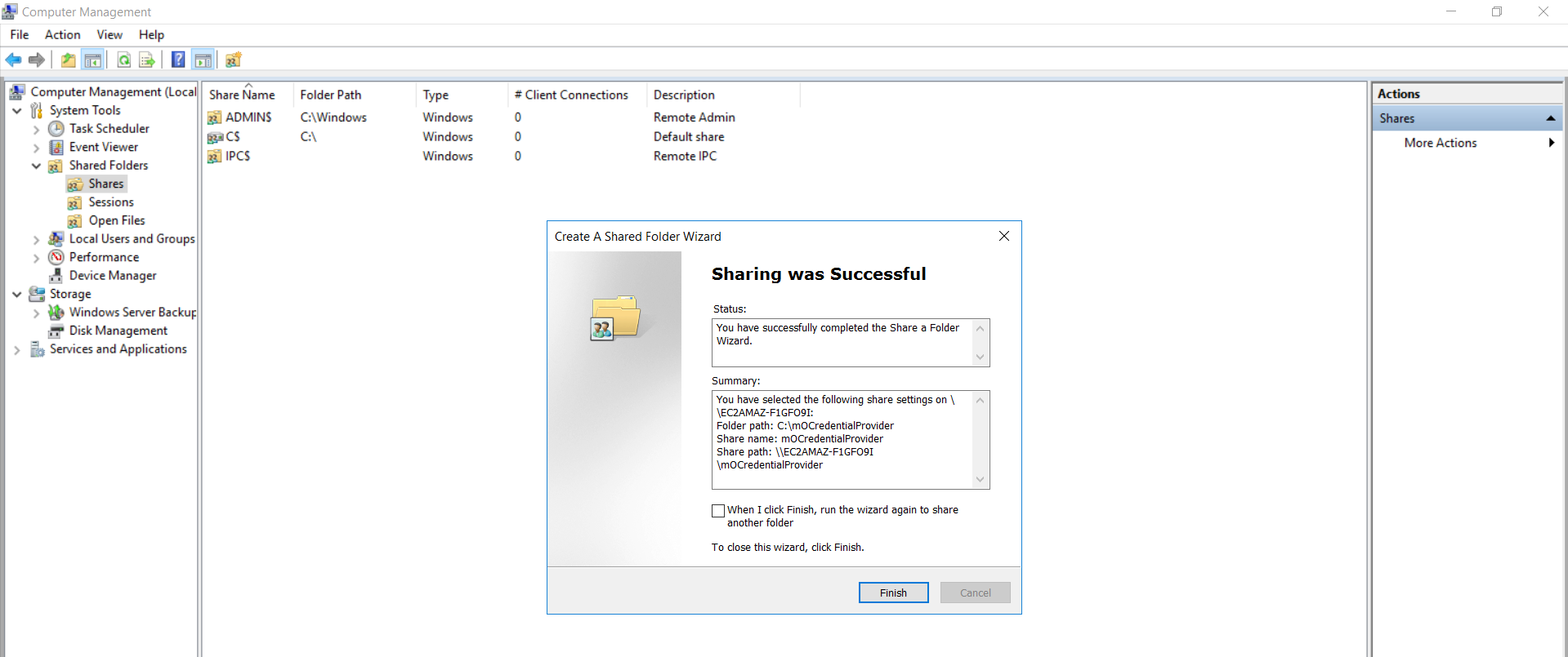 windows credential provider group policy finish