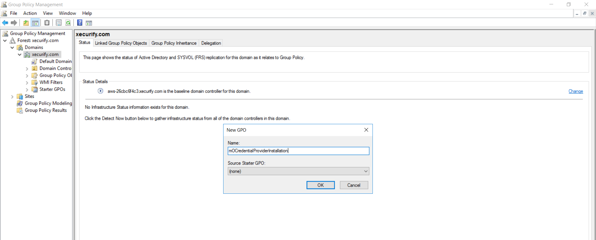 windows credential provider group policy