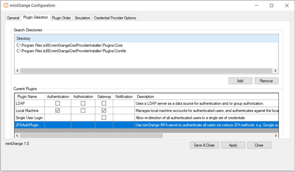 windows credential provider plugin select