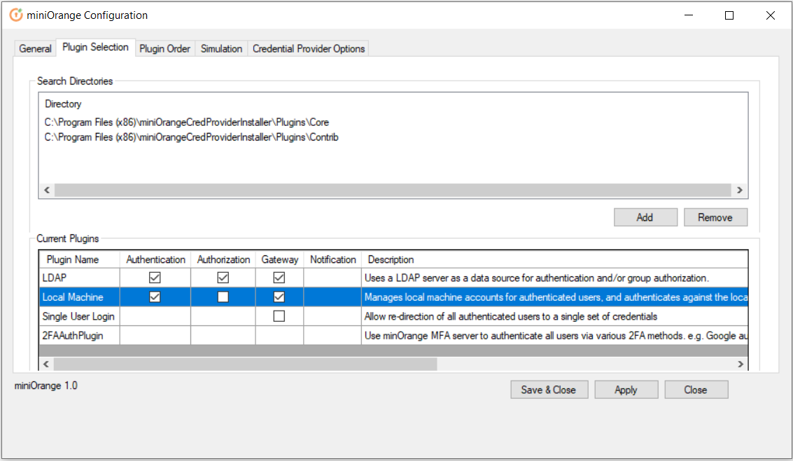 windows credential provider select local machine