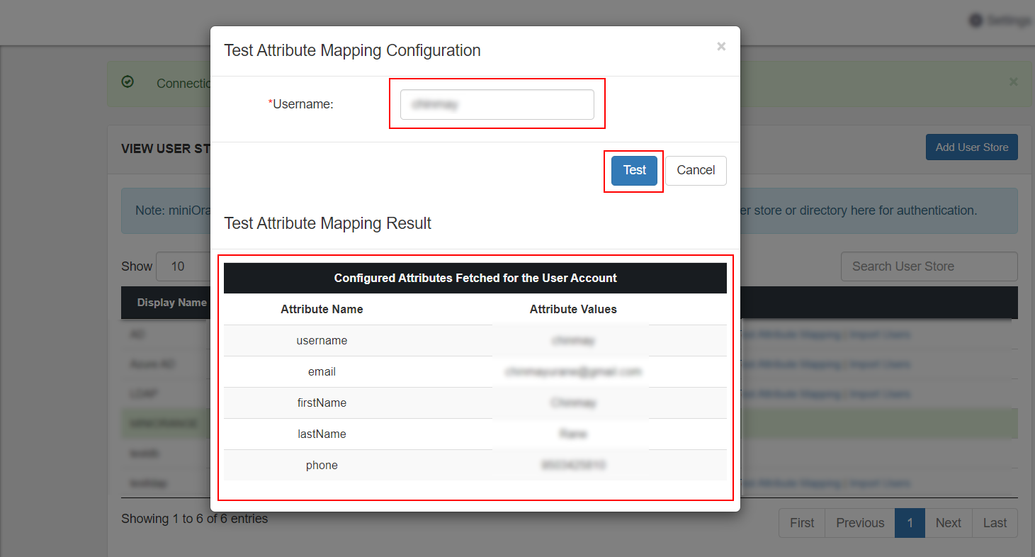 Single Sign On (sso) fetch mapped attributes for user