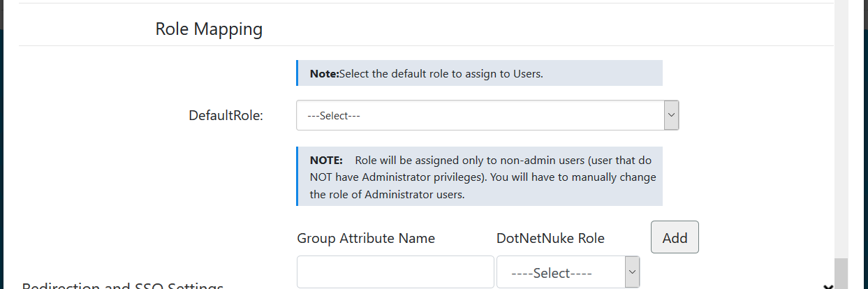 dnn saml single sign on Role Mapping