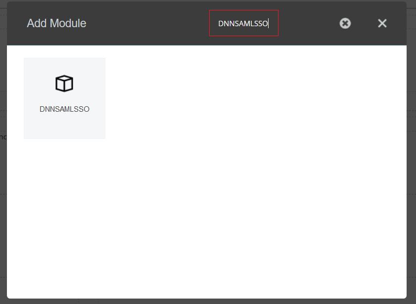 dotnetnuke dnn saml sso azure ad : search module