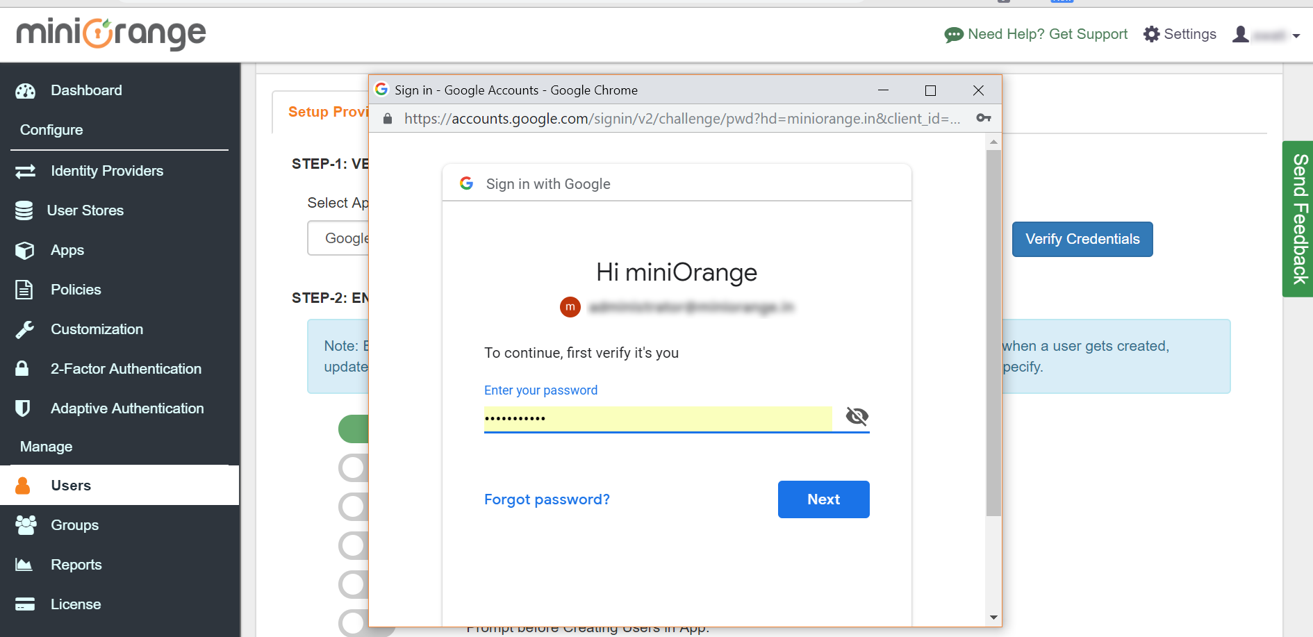 Google Apps directory integration Login
