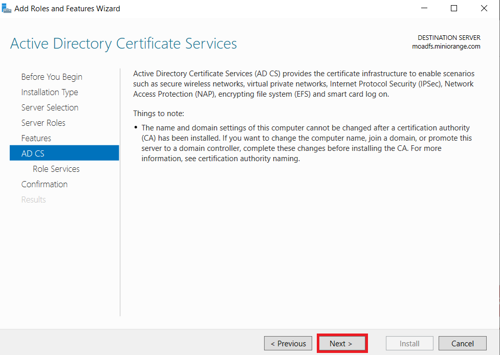 LDAPS on Windows Server active directory certificate services