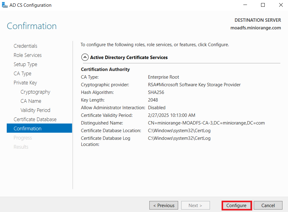LDAPS on Windows Server configure to confirm