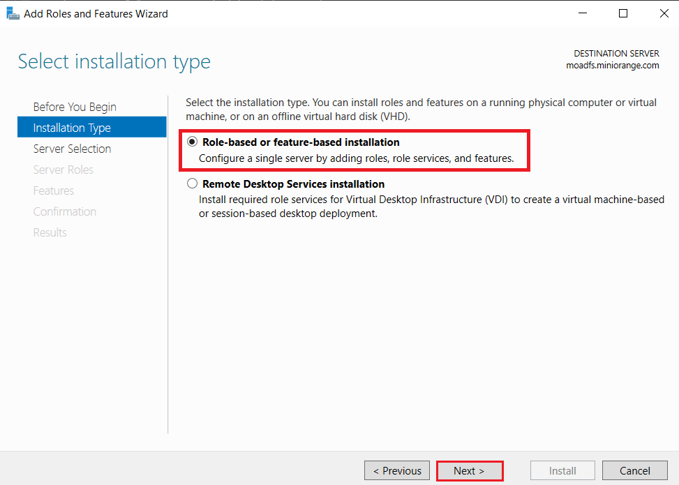 LDAPS on Windows Server role or feature based installation