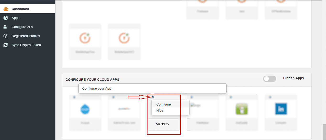 Marketo Single Sign On (sso) configure app