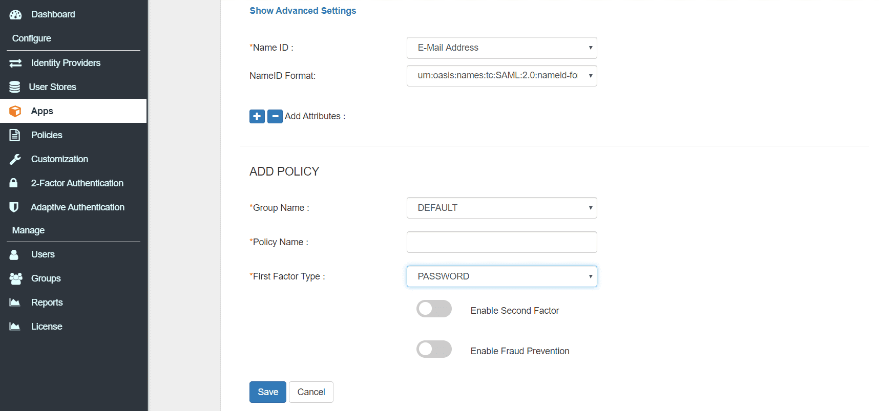 Mendix Single Sign On (SSO) save configuration
