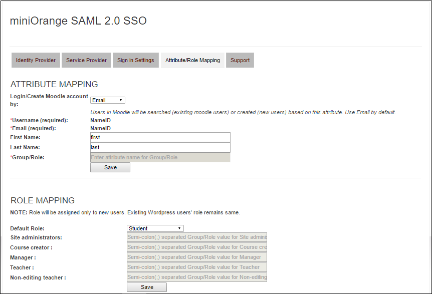 Moodle Single Sign On (SSO) Moodle Login mapping_moodle