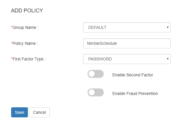 nimbleschedule sso add policy