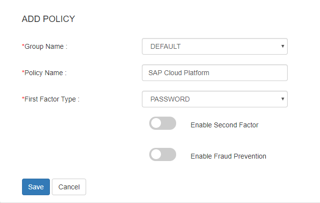 sap add policy