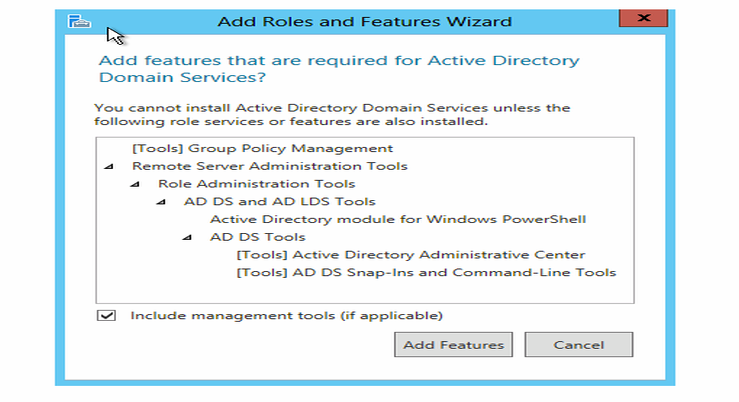 ADFS SSO features wizard
