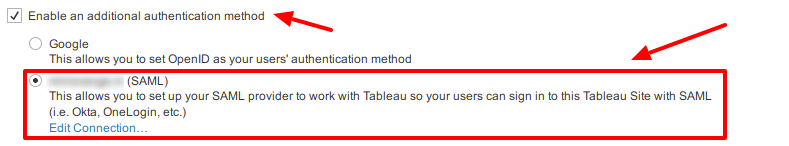 Tableau Single Sign-On (SSO): Enable SAML SSO