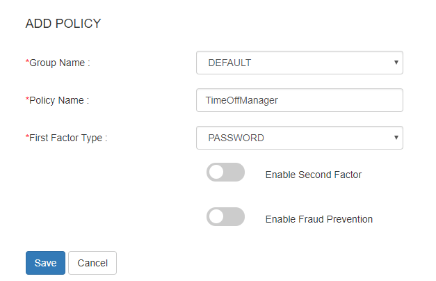 TimeOffManager sso add policy