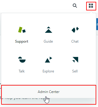 zendesk jwt sso click on admin center button