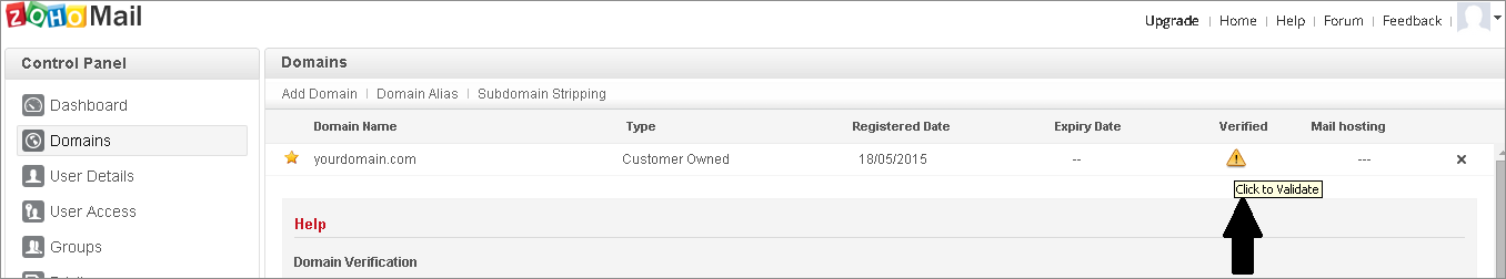 Zoho Single Sign On (sso) validate configuration